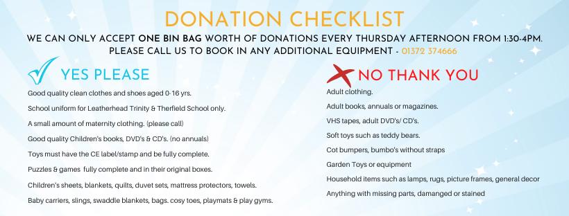 donation checklist